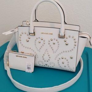 Michael Kors Medium Selma Satchel w/ COIN ID purse